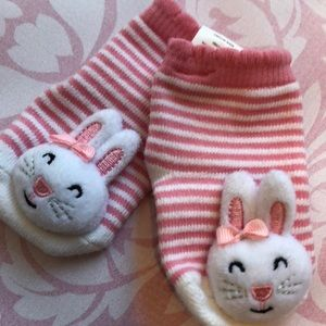 Bunny RATTLE socks